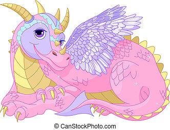 Wunderschöne Drachenfrau