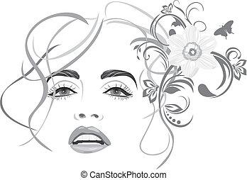 Wunderschöne Frau. Mode-Haarstil