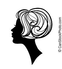 Wunderschöne Frau Silhouette mit Stil