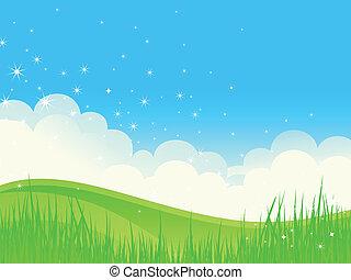 Wunderschöne grüne Landschaft.