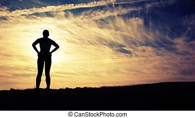 Wunderschöne Läuferin