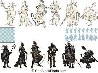 Wunderschöne Schachfiguren