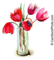 Wunderschöne Tulpenblumen
