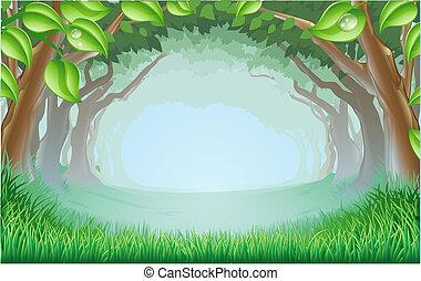 Wunderschöne Waldszene