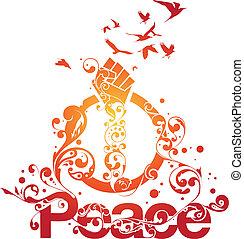 Wunderschöner Friedensvektor