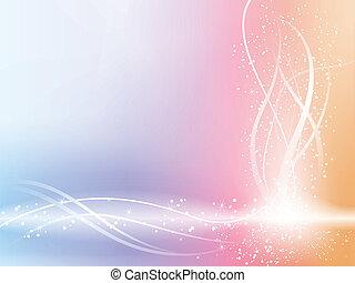 Wunderschöner Pastell-Hintergrund mit Sternen und Wirbeln.