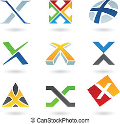 x, abstrakt, brief, heiligenbilder