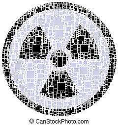 X-Strahlengefahrzeichen in einem Kreis
