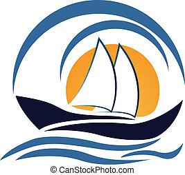 Yacht Boot Logo Design.