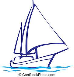 Yachtsilhouette - Seereise