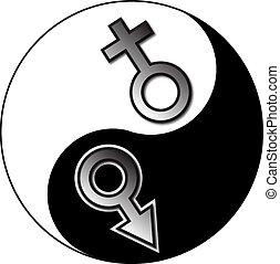 Yin Yang weiblich.