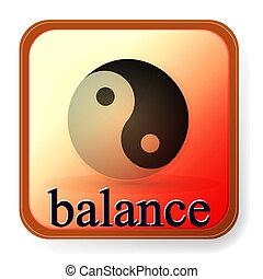 ying, symbol, gleichgewicht, harmonie, yang