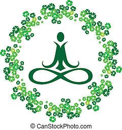 Yoga-Blumen-Ikone