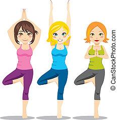 Yoga-Frauen