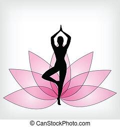 Yoga Hintergrund abbrechen