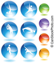 Yoga-Kristall-Ikone-Set