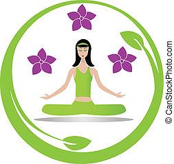 Yoga-Meditation-Mädchen