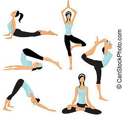 Yoga posiert