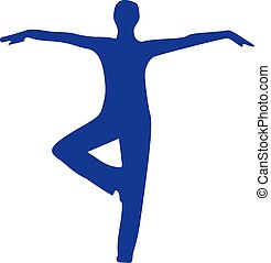 Yoga Silhouette steht.