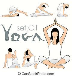 Yoga-Silhouettes-Set