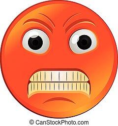 Zünde rotes Emoji-Vektor-Icon.