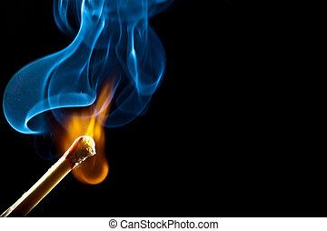 Zündung mit Rauch