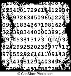 Zahlen Hintergrund