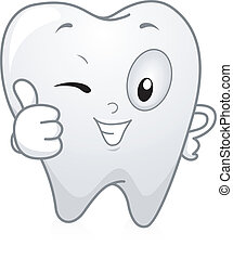 Zahn Daumen hoch