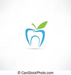 Zahn-Ikone.
