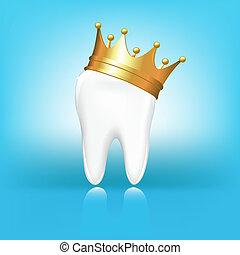 Zahn in Krone.
