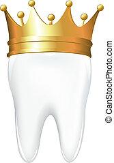 Zahn in Krone