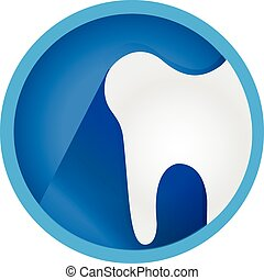 Zahn-Symbol Flach-Vektor-Logo.