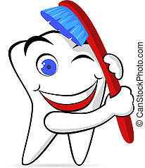 Zahn und Pinsel