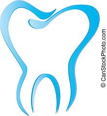 Zahnsektion mit Schattenvektor