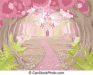 Zauberhafte Schlosslandschaft.