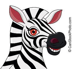 Zebrakopf Cartoon