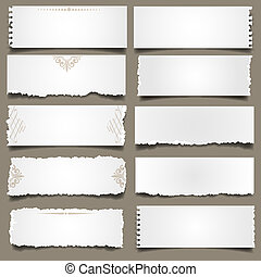 Zehn Scheine Papier