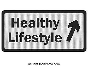 zeichen, foto, lifestyle', freigestellt, realistisch, weißes, 'healthy