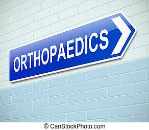 zeichen., orthopädie