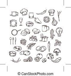 Zeichnungen von Ikonen.