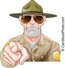 Zeige Cartoon Park Ranger.