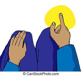 Zeige den Finger auf Mekka