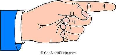 Zeige mit dem Finger