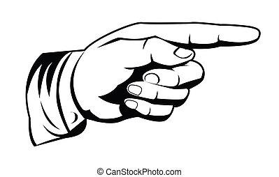 zeigen, hand