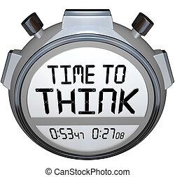 Zeit, an einen Stoppuhr-Timer zu denken.