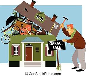 Zeit für einen Garagenverkauf.