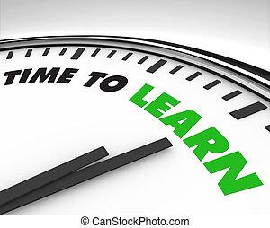 Zeit zu lernen - Uhr