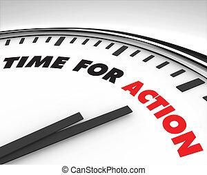 Zeit zum Handeln - Uhr