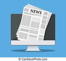 Zeitung auf dem Bildschirm