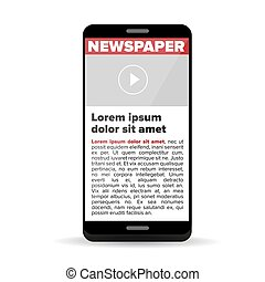 Zeitung auf dem Smartphone.